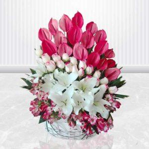 خرید سبد گل آنلاین- سبد گل پریا