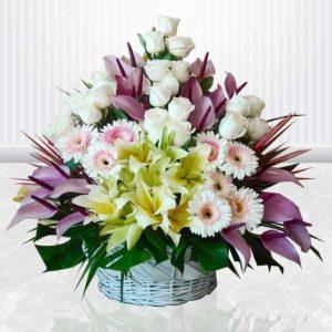 سفارش سبد گل آنلاین- سبد گل رویال