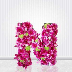 خرید گل فانتزی اینترنتی- جعبه گل حروف فانتزی