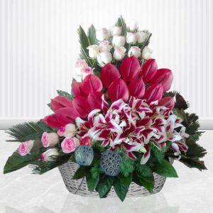 سفارش سبد گل آنلاین- سبد گل شاهزاده مهربان