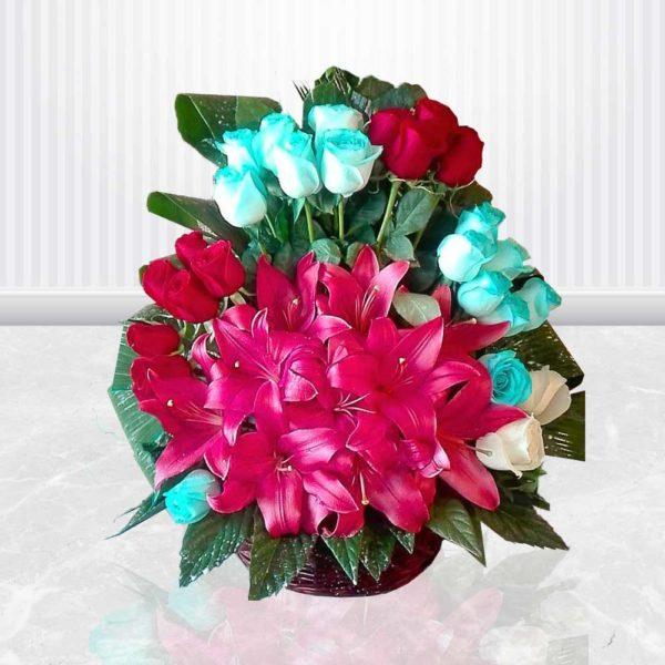 سفارش سبد گل آنلاین- سبد گل تولد گل ها
