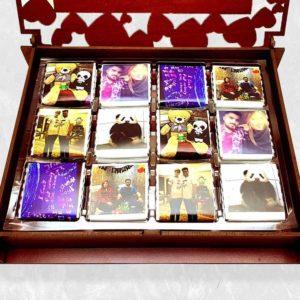 خرید آنلاین باکس هدیه شکلات سفارشی