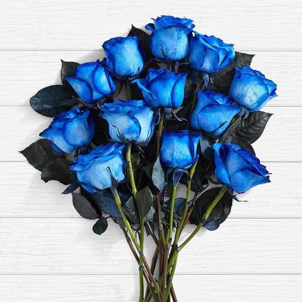 سفارش گل اینترنتی- دسته گل رز آبی