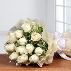دسته-گل-رز-سفید
