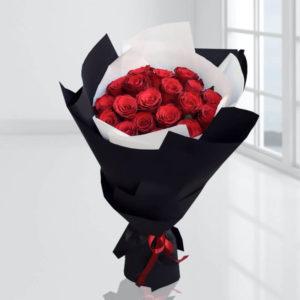 سفارش گل اینترنتی- دسته گل رز لوکس