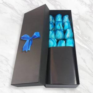 خرید گل رز اینترنتی، باکس گل رز آبی