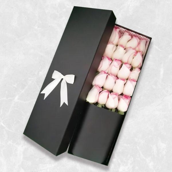خرید گل رز اینترنتی، باکس گل رز سفید
