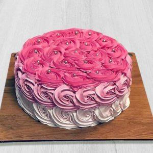 خرید اینترنتی کیک، کیک گل رز