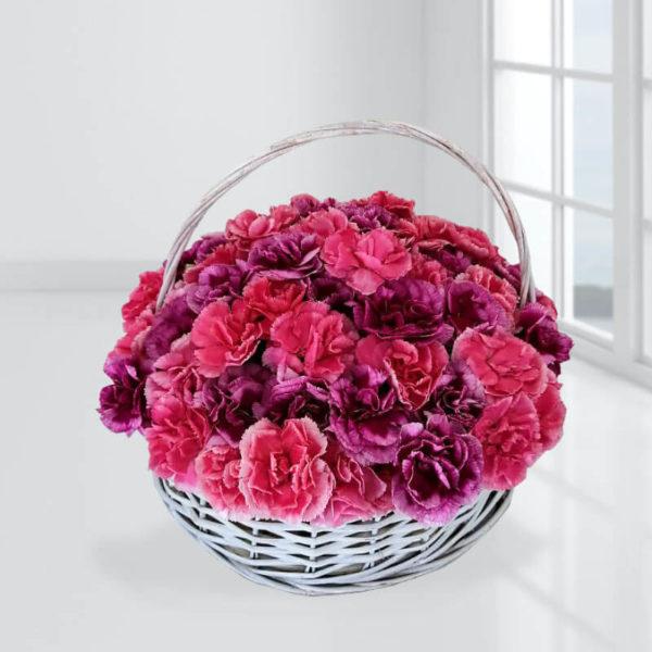 خرید آنلاین سبد گل- سبد گل شگفت انگیز