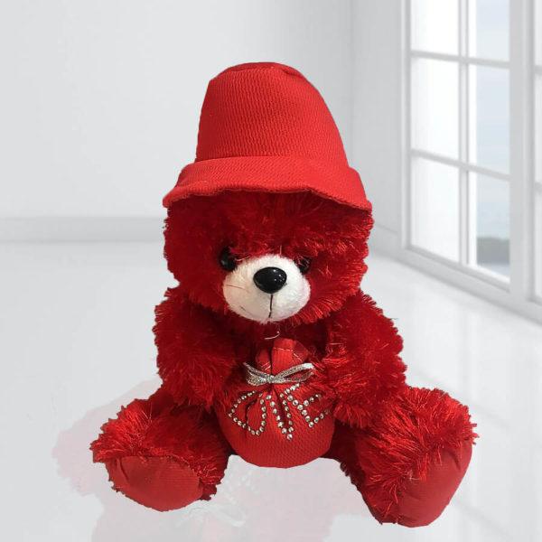 عروسک تدی قرمز، خرید گل و عروسک
