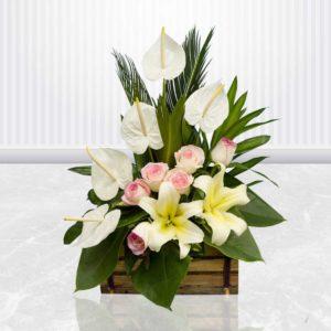 سفارش سبد گل آنلاین- سبد گل با طراوت