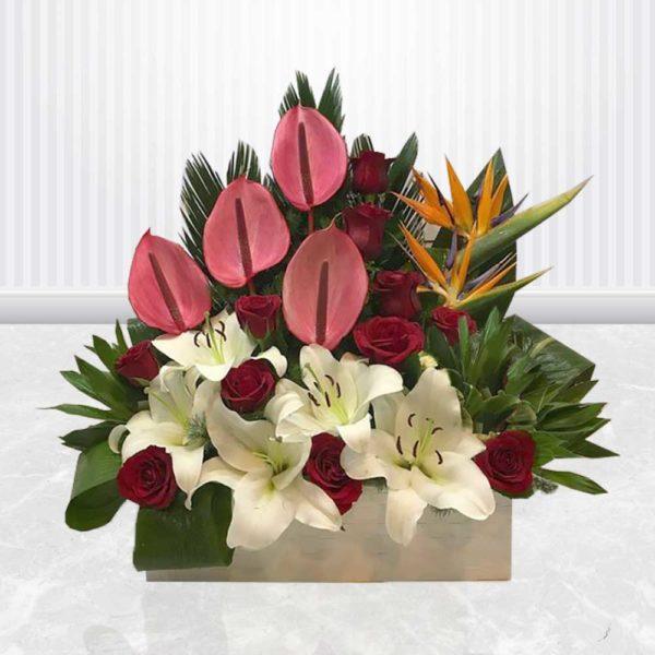 سفارش سبد گل آنلاین- سبد گل زیبای خفته