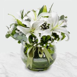 گلدان گل لیلیوم رمانتیک