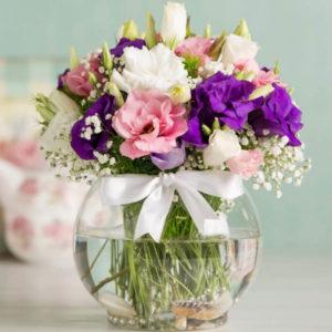 خرید اینترنتی گلدان گل لیسیانتوس