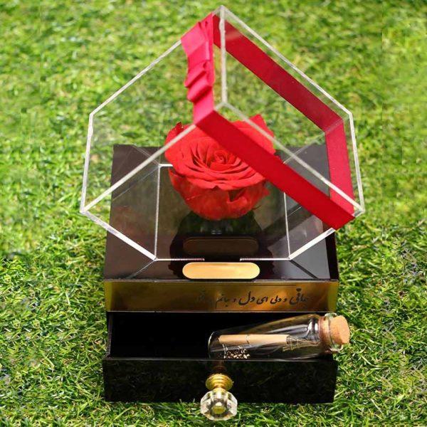 خرید اینترنتی گل رز طبیعی جاودان ، گل رز جاودان قرمز