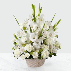 سبد گل ترحیم فلاورز