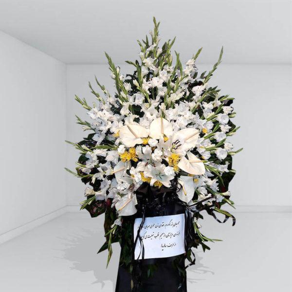 تاج گل مراسم یک طبقه خیال آرام