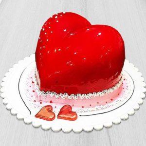 کیک قلبی