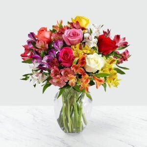 گلدان لبخند گل ها