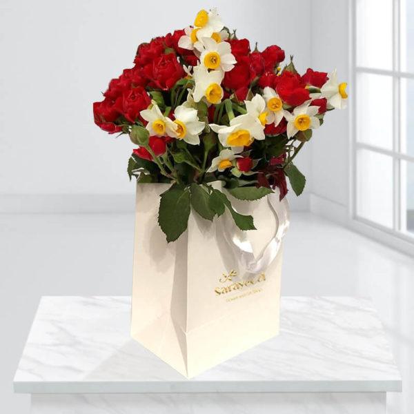 جعبه گل رمانتیک