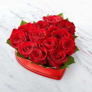باکس قلبی گل رز عاشقانه (آمریکا)