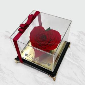 گل رز قلبی جاودان