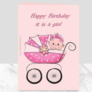 کارت پستال It is a girl