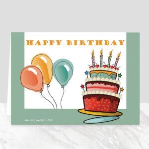 کارت پستال تولد شاد