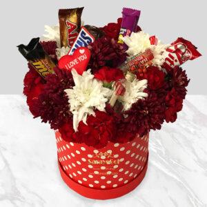 جعبه گل و شکلات نشاط