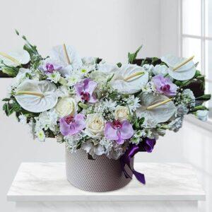 جعبه گل مروارید